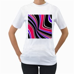 Colors of 70 s Women s T-Shirt (White)