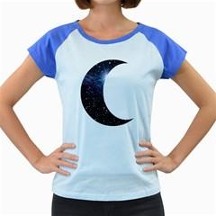Moon Women s Cap Sleeve T-Shirt