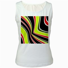 Colors of 70 s Women s White Tank Top