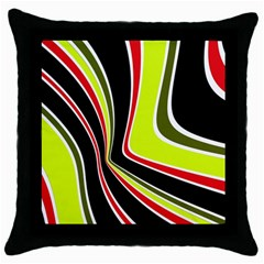 Colors of 70 s Throw Pillow Case (Black)