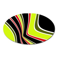 Colors of 70 s Oval Magnet
