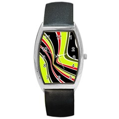 Colors of 70 s Barrel Style Metal Watch