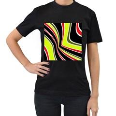 Colors of 70 s Women s T-Shirt (Black)