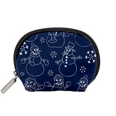 Winter Snowman Pattern Accessory Pouches (Small)
