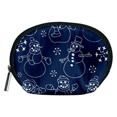 Winter Snowman Pattern Accessory Pouches (Medium)