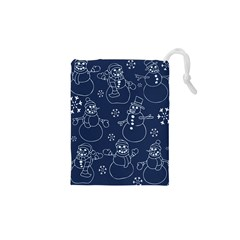 Winter Snowman Pattern Drawstring Pouches (xs)