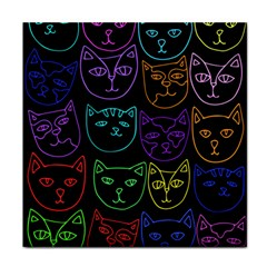 Retro Rainbow Cats  Tile Coasters