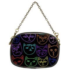 Retro Rainbow Cats  Chain Purses (Two Sides)