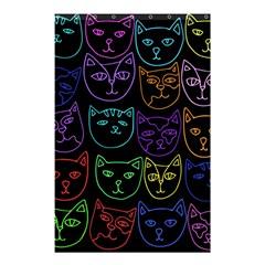 Retro Rainbow Cats  Shower Curtain 48  x 72  (Small)