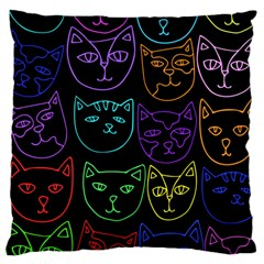 Retro Rainbow Cats  Large Cushion Case (Two Sides)