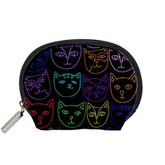Retro Rainbow Cats  Accessory Pouches (Small)