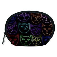 Retro Rainbow Cats  Accessory Pouches (Medium)