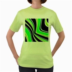 Colors of 70 s Women s Green T-Shirt