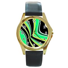 Colors of 70 s Round Gold Metal Watch