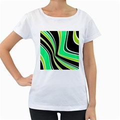 Colors of 70 s Women s Loose-Fit T-Shirt (White)