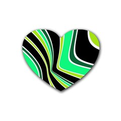 Colors of 70 s Rubber Coaster (Heart)
