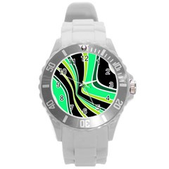 Colors of 70 s Round Plastic Sport Watch (L)