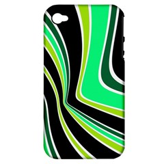 Colors of 70 s Apple iPhone 4/4S Hardshell Case (PC+Silicone)