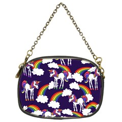Retro Rainbows And Unicorns Chain Purses (Two Sides)