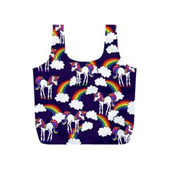 Retro Rainbows And Unicorns Full Print Recycle Bags (S)