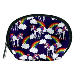 Retro Rainbows And Unicorns Accessory Pouches (Medium)