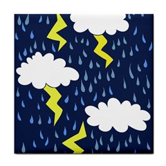 Thunderstorms Tile Coasters