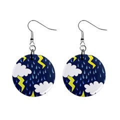 Thunderstorms Mini Button Earrings