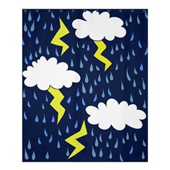 Thunderstorms Shower Curtain 60  x 72  (Medium)