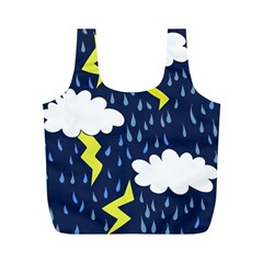 Thunderstorms Full Print Recycle Bags (M)