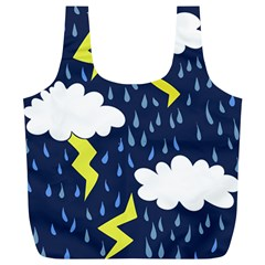 Thunderstorms Full Print Recycle Bags (l)
