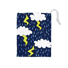 Thunderstorms Drawstring Pouches (medium)