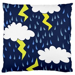 Thunderstorms Large Flano Cushion Case (Two Sides)