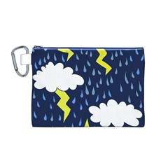 Thunderstorms Canvas Cosmetic Bag (M)