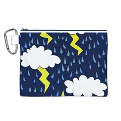 Thunderstorms Canvas Cosmetic Bag (l)