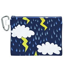 Thunderstorms Canvas Cosmetic Bag (XL)