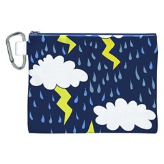Thunderstorms Canvas Cosmetic Bag (XXL)
