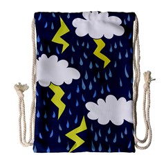 Thunderstorms Drawstring Bag (large)