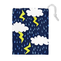 Thunderstorms Drawstring Pouches (Extra Large)