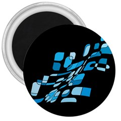 Blue abstraction 3  Magnets