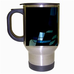Blue abstraction Travel Mug (Silver Gray)