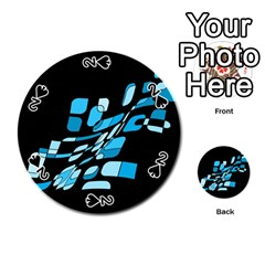 Blue abstraction Playing Cards 54 (Round)