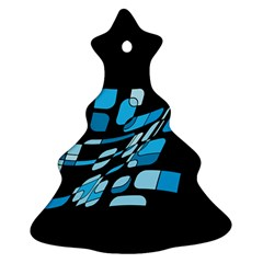 Blue abstraction Christmas Tree Ornament (2 Sides)