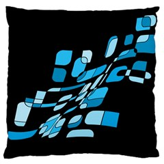 Blue abstraction Large Cushion Case (One Side)