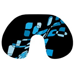 Blue abstraction Travel Neck Pillows