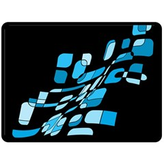 Blue abstraction Double Sided Fleece Blanket (Large)