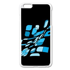 Blue abstraction Apple iPhone 6 Plus/6S Plus Enamel White Case