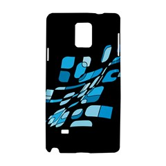 Blue abstraction Samsung Galaxy Note 4 Hardshell Case