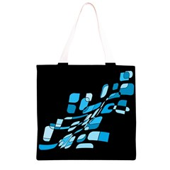 Blue abstraction Grocery Light Tote Bag