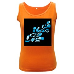 Blue abstraction Women s Dark Tank Top