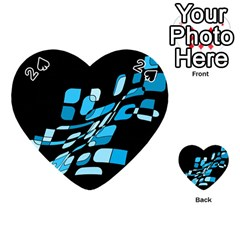 Blue abstraction Playing Cards 54 (Heart)